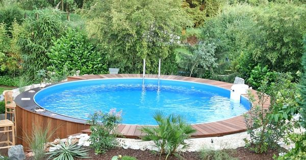 kleiner pool im gr nen garten pinterest g rten schwimmb der und gartenideen. Black Bedroom Furniture Sets. Home Design Ideas