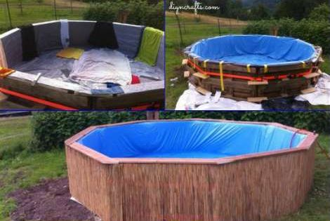 How To Make A Pallet Swimming Pool Projects Outdoor Pinterest Swimming Pools Fun Projects