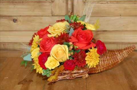 How To Make A Flower Arrangement In A Cornucopia Fall