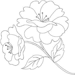This Would Translate Well Into A Beautiful Applique Block Embroidery Flowers Embroidery Flowers Pattern Hand Embroidery Designs