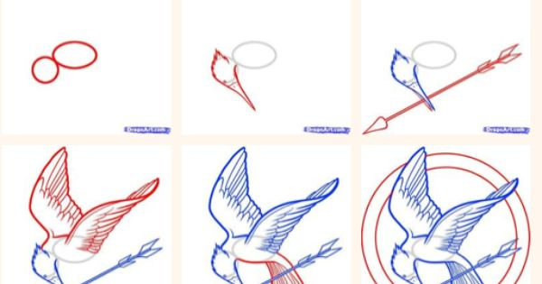 How To Draw The Mockingjay Pin Guess Who Is Going To Do This