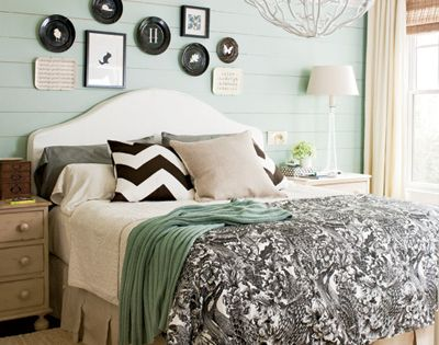 black and white and mint all over color scheme