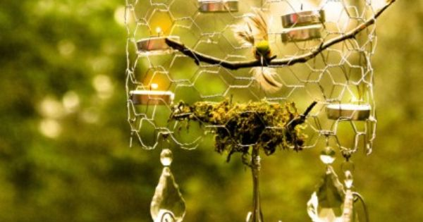 chicken wire diy chandelier
