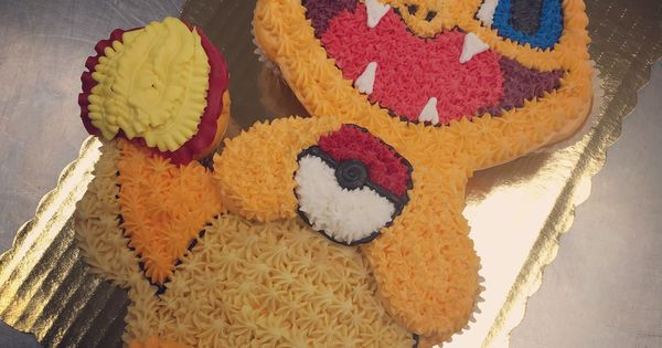 Charmander Cupcake Cake My Work Pinterest Cake