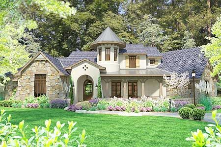 Plan 17587lv Charming European House Plan With Circular Stair French Country House Plans European House French Country House