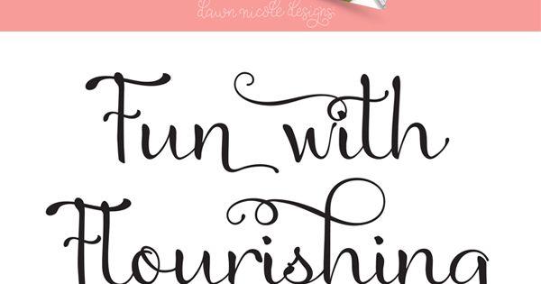 Fun with flourishing free hand lettering ebook