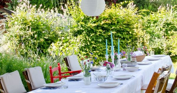 deko f r die gartenparty mit lampions im sommer garten pinterest gartenparty lampions und. Black Bedroom Furniture Sets. Home Design Ideas