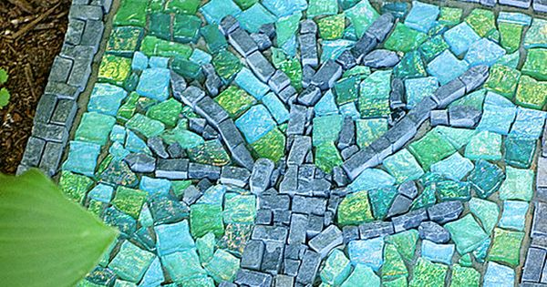 Mosiac garden stone