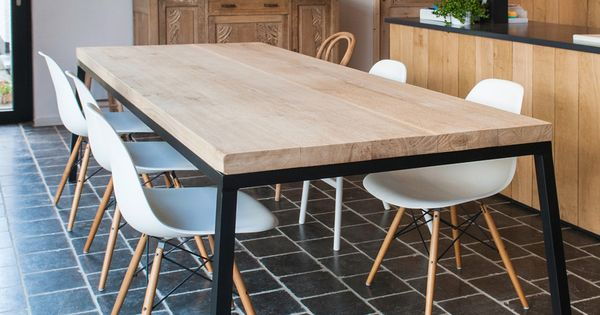 Rechthoekige tafel interiors tables and eames dsw chair - Tafel boconcept ...