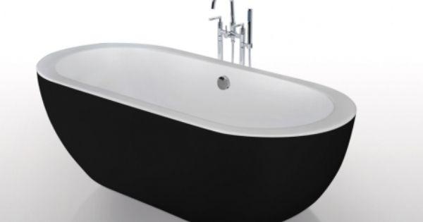 Baignoire Lot Neptune Capacit 234l En Acrylique Renforc Noir 173 78 57cm Salle De Bain