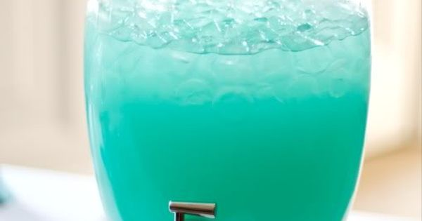 Tiffany Blue Punch... Recipe: Blue Hawaiian Punch and Lemonade. Nice summer drink!