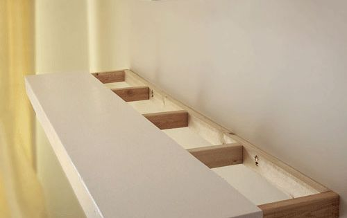 Finally! DIY instructions for how to build solid wood floating shelves of