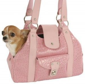 Faux Croc Small Dog Carrier With Images Small Dog Carrier Dog