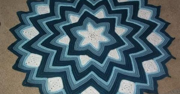 6-point Round Ripple Afghan Pattern