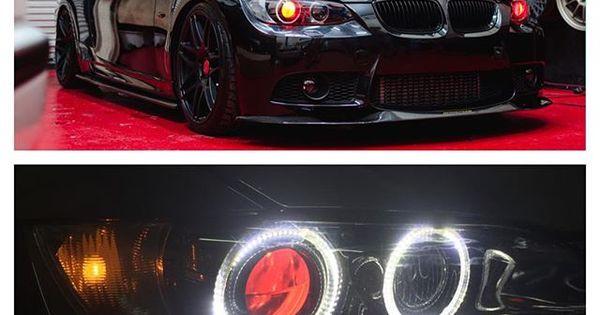 Bmw F30 Led Retrofit Headlights With Square Laser Halos