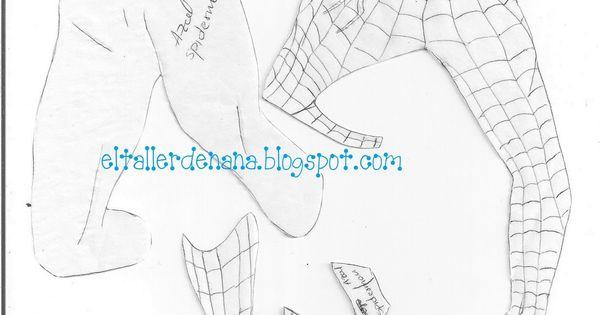 Moldes Aplique de Spiderman SpiderMan o el Hombre Ara a