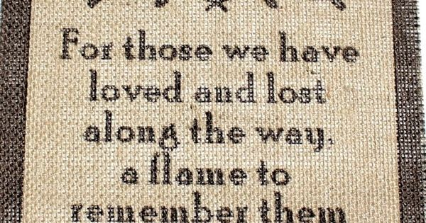 Rustic Vintage Country Burlap Wedding Sign CANDLE LIT IN MEMORY OF THOSE