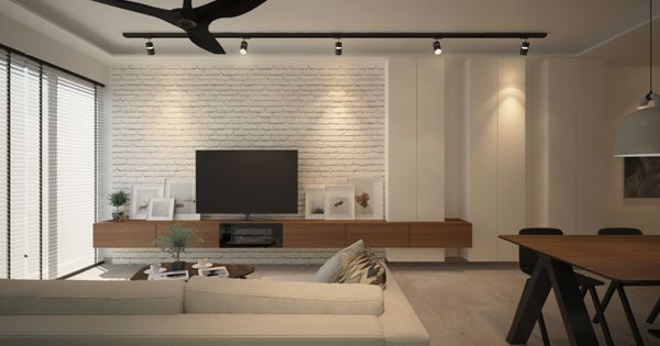 Tv Console With Feature Wall Google Search Shelved