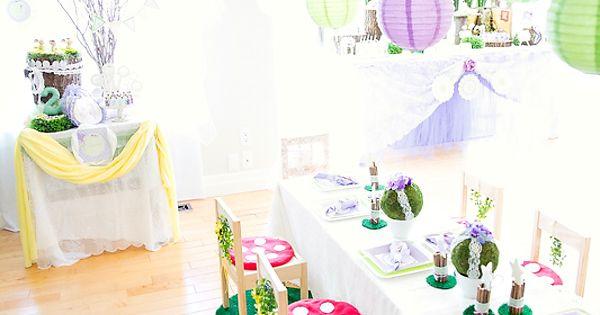Dreamy Lavender Woodland Fairy Party ideas.
