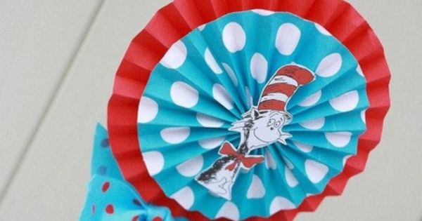 Dr. Seuss Thing 1 and Thing 2 1st Birthday Party for Twins - Twin - Red and Aqua Blue - Chevron & Polka Dots - decor and centerpiece - centerpieces and decorations ideas