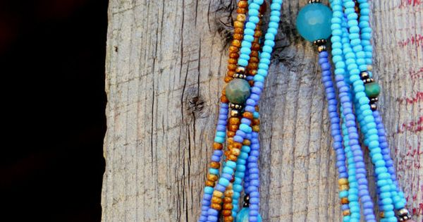 Turquoise Seed Bead Multiple Strand