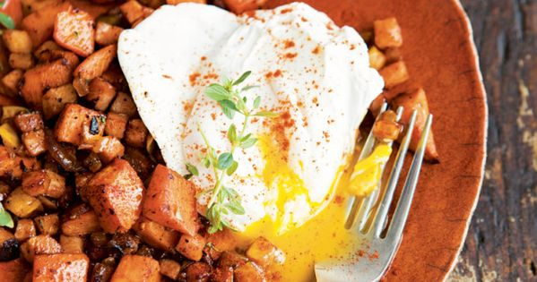 Sweet Potato Hash with Poached Eggs   Eat   dishes ...