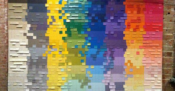 DIY: Paint chip art wall