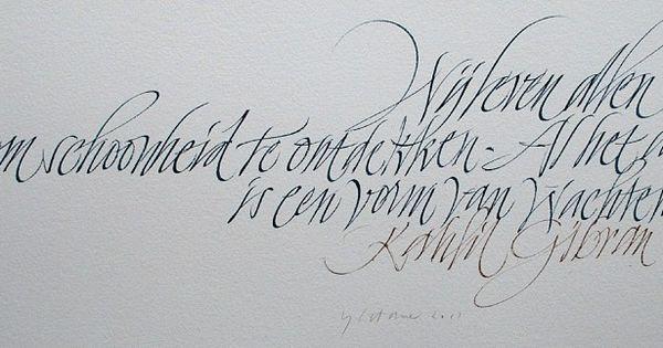 Yves Leterme Calligraphy Favourites Pinterest