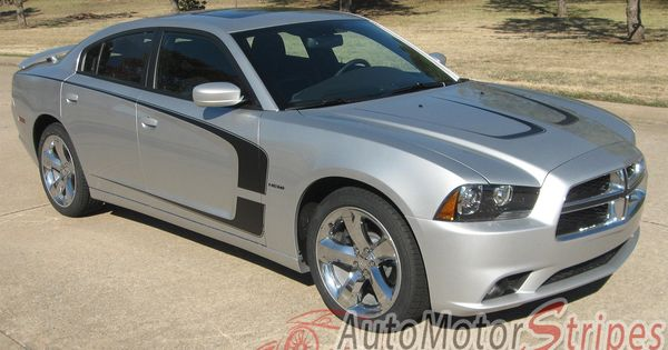 Dodge Charger 2011-2014 Hood Scallop Accent /& Side Stripes Decals Choose Color