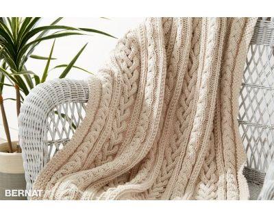 Free Intermediate Throw Knit Pattern Bernat