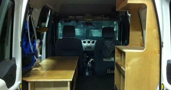 Ford Transit Connect Camper Pkg Diy Campervan Van Cabinets