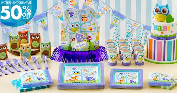 Welcome Baby Party Supplies Woodland Party City Site