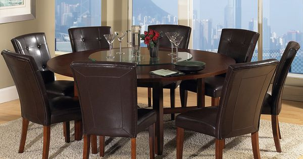 round dining table for 8 people dining room ideas pinterest round dining table rounding. Black Bedroom Furniture Sets. Home Design Ideas