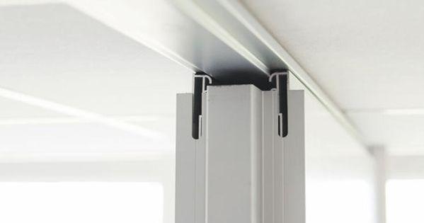 Vacuwall Umsetzbare Trennwand Deckenanschluss Bei Abgehangter Decke Trennwand Wand Raumteiler