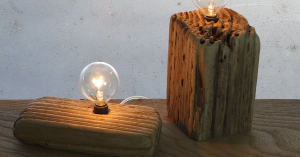 DIY driftwood lamp.