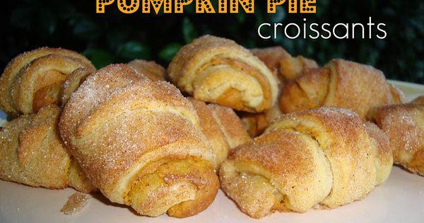 Mini Pumpkin Pie Croissants ~ 2 tubes cresent rolls (open and split
