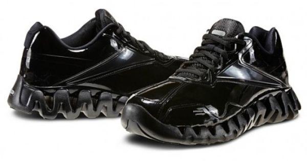 reebok zig patent leather court shoe