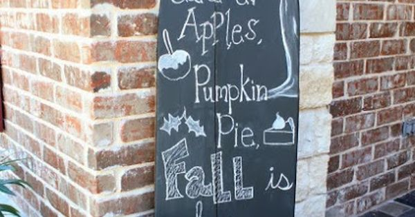 Fall Decor Ideas - so cute! I'd keep this old ironing board