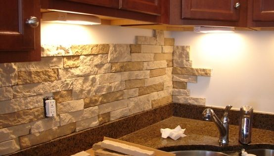 diy stone back splash from airstone no power tools or