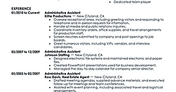Administrative Assistant Resume Should Be Well Noticed If You Want To Create Yours. Beforehand