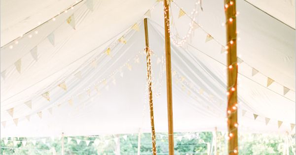 backyard wedding ideas - tent decor