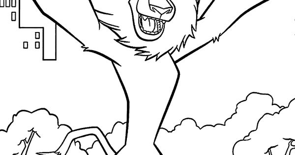 Alex Madagascar Coloring Pages For Kids Printable Free