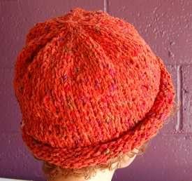 Free Knit Hat Pattern Cotton Chenille Waikiki Roll Brim Hat Crystal Palace Yarns Knitting Patterns Free Hats Knitted Hats Hat Knitting Patterns