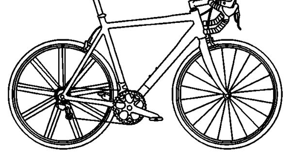 koersfiets kleurplaat ausmalbild rennrad ausmalbilder