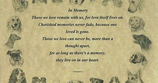 Pet Memorial In Memory Poem Dogs Ebay Pet Memorials Dog Poems