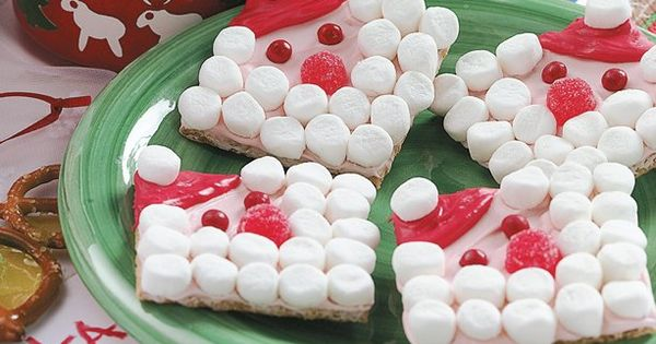 Santa Grahams - cute food craft for kids.