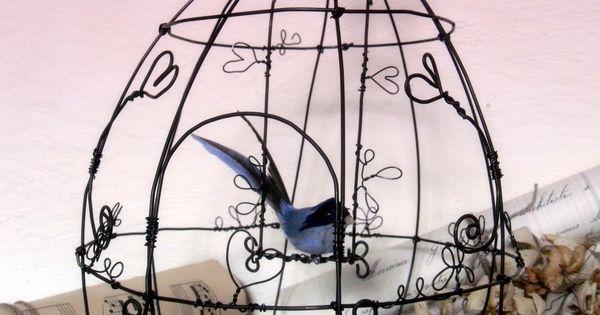 cage oiseaux d co en fil de fer id es pour le mariage pinterest fil de fer fil et oiseaux. Black Bedroom Furniture Sets. Home Design Ideas