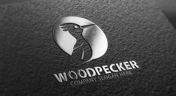 Woodpecker Bird Logo