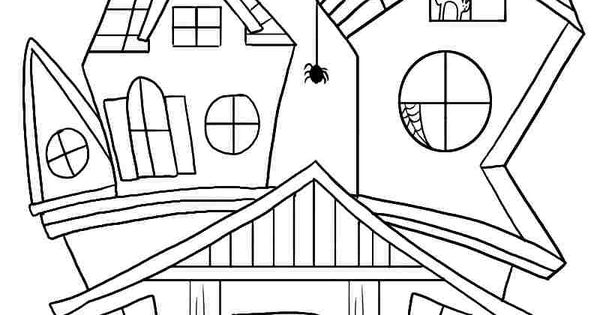 Coloring Fun Halloween Haunted House Pages 98: Free Printable Coloring Sheets Halloween Haunted House For