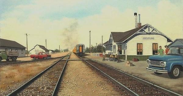 Train Depot In Meridian, Idaho, Ca. 1960s